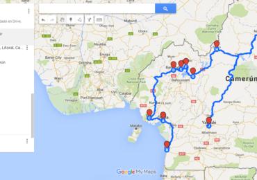Carte road trip Cameroun