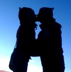 Astrid et moi en Bolivie, Salar de Uyuni 2010