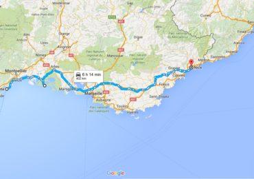 road trip en renault 4L Sète-Nice