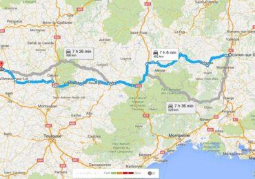 road trip en renault 4L livron-montignac