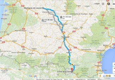 road trip en renault 4L montignac-andorre
