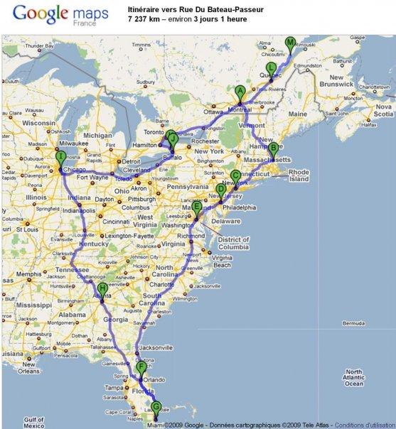 Carte road trip